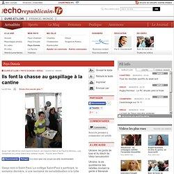 L ECHO REPUBLICAIN 03/04/14 BROU - Ils font la chasse au gaspillage à la cantine