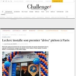 """Leclerc installe son premier """"drive"""" piéton à Paris"""