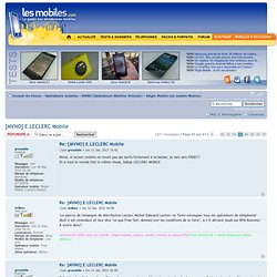 [MVNO] E.LECLERC Mobile : Réglo Mobile (ex Leclerc Mobile) - Page 63