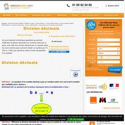 Division décimale - Cours maths 6ème - Tout savoir sur la division décimale