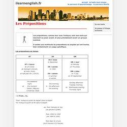 Leçon - Les prépositions