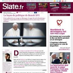 La leçon de politique de Benoît XVI