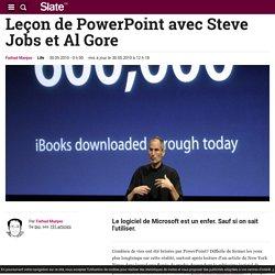 Leçon de PowerPoint avec Steve Jobs et Al Gore