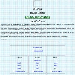 Leçons de 5eme - Round the Corner