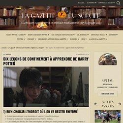 Dix leçons de confinement à apprendre de Harry Potter