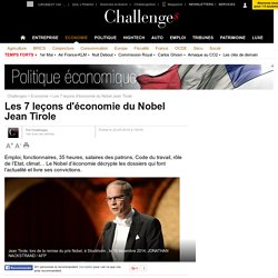 Les 7 leçons d'économie du Nobel Jean Tirole