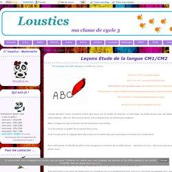 Leçons Etude de la langue CM1/CM2