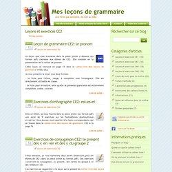 Leçons et exercices CE2 - Mes leçons de grammaire