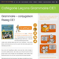 Leçons Grammaire CE1