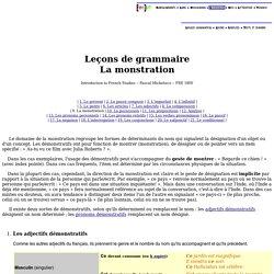 ETAPE 1 EXPLICATION ECRITE Leçons de grammaire