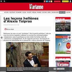 Les leçons hellènes d'Alexis Tsipras