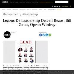 Leçons De Leadership De Jeff Bezos, Bill Gates, Oprah Winfrey
