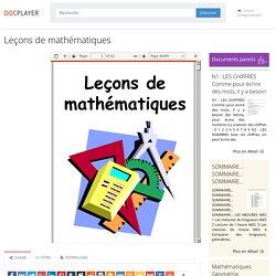 ⭐Leçons de mathématiques
