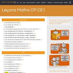 Leçons Maths CP CE1