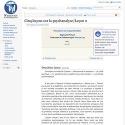 Cinq leçons sur la psychanalyse/Leçon 2