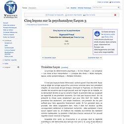 Cinq leçons sur la psychanalyse/Leçon 3