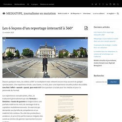 Les 6 leçons d'un reportage interactif à 360°