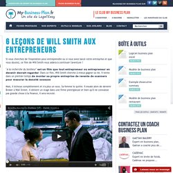6 leçons de Will Smith aux entrepreneurs