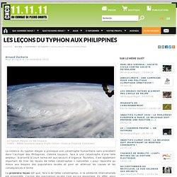 Les leçons du typhon aux Philippines