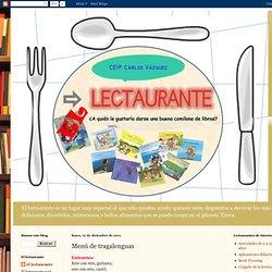 El lectaurante: Menú de tragalenguas