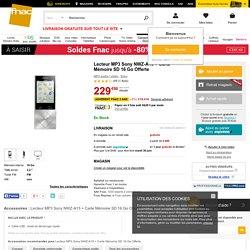 Lecteur MP3 Sony NWZ-A15 + Carte Mémoire SD 16 Go Offerte - MP3 audio / vidéo