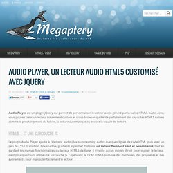 Audio Player, un lecteur audio HTML5 customisé avec jQuery