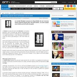 Le lecteur Cybook Gen3 de Bookeen est en vente