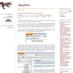 Sage, lecteur de fils d'actu, pour Firefox 4 - extension pour lire les flux RSS et Atom dans Mozilla Firefox