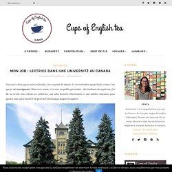 Lecteur/ Lectrice dans une université au Canada