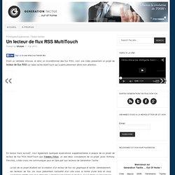 Un lecteur de flux RSS MultiTouch