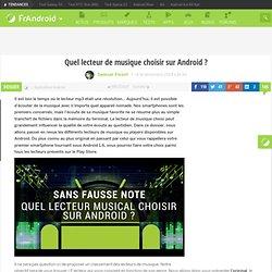 Quel lecteur de musique choisir sur Android ?