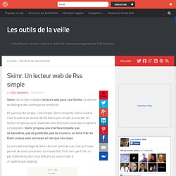 Skimr. Un lecteur web de Rss simple
