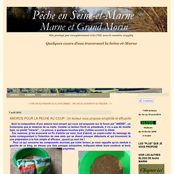AMORCE POUR LA PECHE AU COUP : Un lecteur vous propose simplicité et efficacité. - La pêche en Seine-et-Marne, Marne et Grand Morin