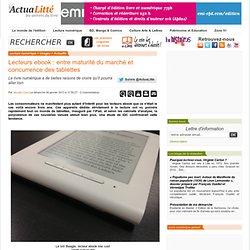Lecteurs ebook : entre maturité du marché et concurrence des tablettes