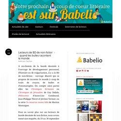 Etude de lectorat Babelio : Lecteurs de BD de non-fiction : quand les bulles racontent le monde