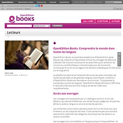 2 – La plateforme OpenEdition Books