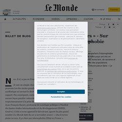 «Le Monde des lecteurs» - Sur une supposée «islamophobie d'Etat»