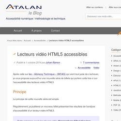 Lecteurs vidéo HTML5 accessibles