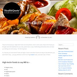 High-Lectin Foods