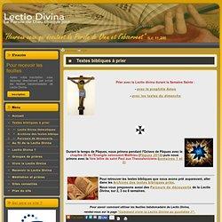 Lectio Divina / Textes bibliques à prier
