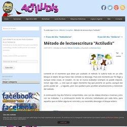 """Método de lectoescritura """"Actiludis"""""""