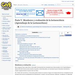 Parte V. Monitoreo y evaluación de la lectoescritura (Aprendizaje de la Lectoescritura) - CNB