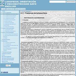 2.1.1. Trastornos de lectoescritura - LOGOPEDIA, ORIENTACIÓN Y PSICOMOTRICIDAD SAFA ANDUJAR