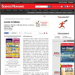 Lector in fabula - Catherine Halpern , article Sciences du langage