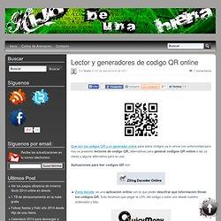 Lector y generadores de codigo QR online