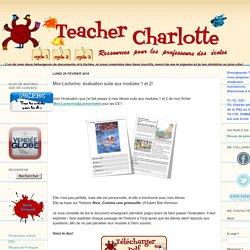 Teacher Charlotte: Mini-Lectorino: évaluation suite aux modules 1 et 2!