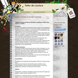 Taller de Lectura: BLOQUE II.- PROCESO DE LECTURA Y ESCRITURA