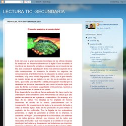 LECTURA TIC -SECUNDARIA