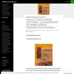"""Una lectura, varias lecturas: """"La durmiente"""" de María Teresa Andruetto e Istvanch"""