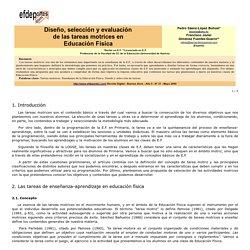 Diseño, selección y evaluación de tareas motrices en educación física